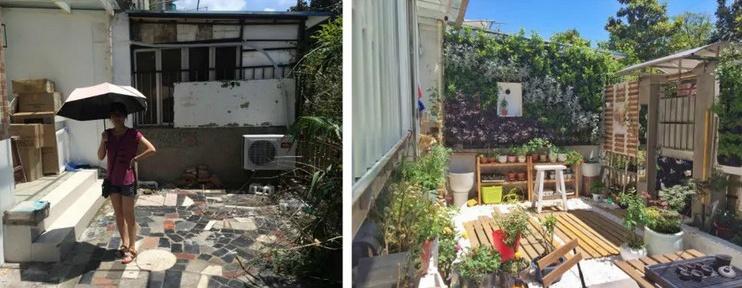 Cặp vợ chồng phá bỏ sân đầy rác và cỏ dại, cải tạo thành khu vườn ai cũng muốn ghé thăm - Ảnh 1.