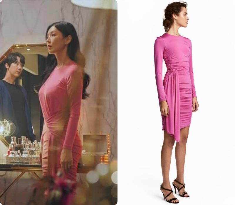 """Màn khoe body và vòng 3 đỉnh cao của nàng """"tiểu tam"""" nóng bỏng nhất phim Hàn lại đến từ bộ đầm H&M giả nhỉnh hơn 1 triệu - Ảnh 4."""