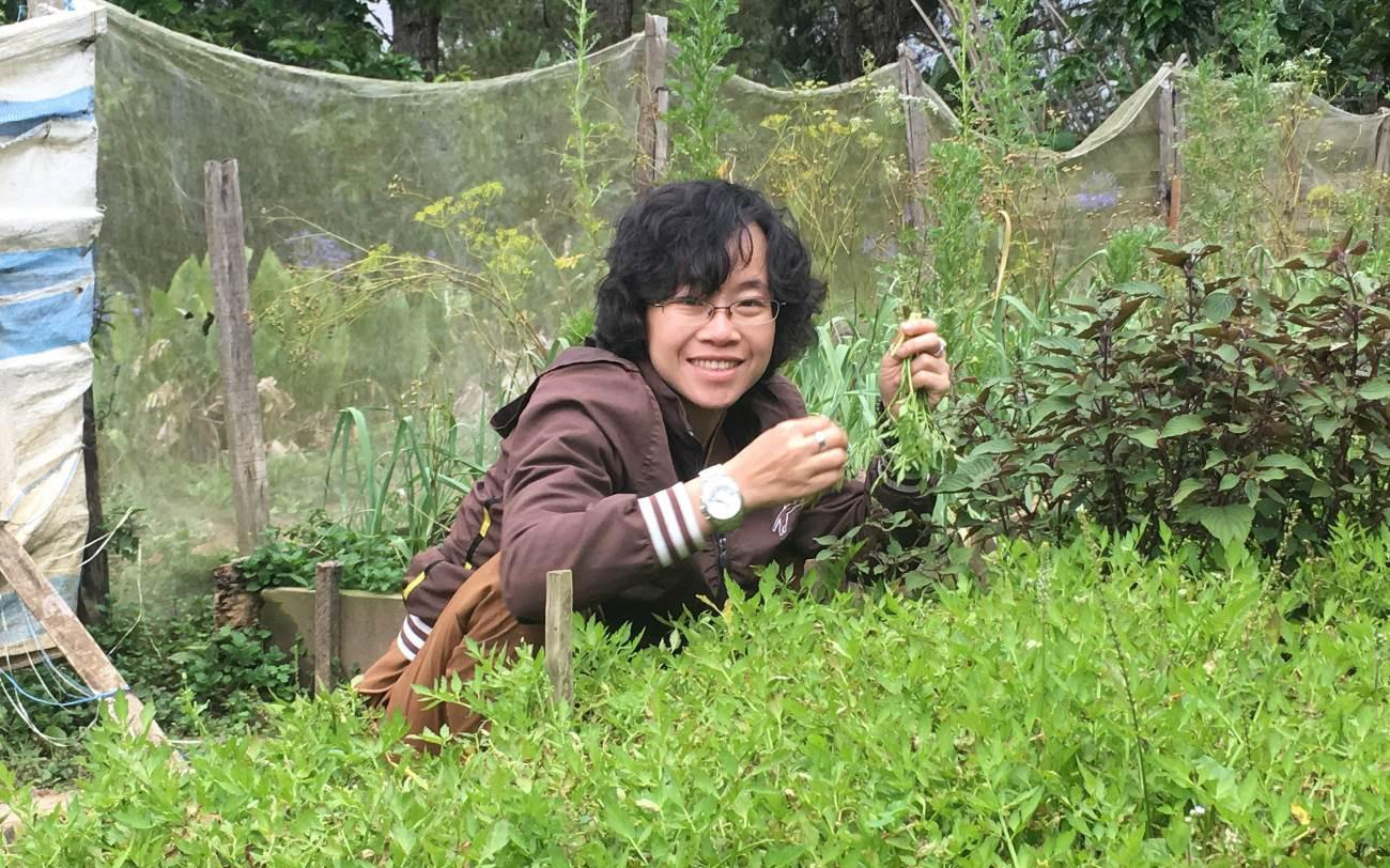 Nữ thạc sỹ từ bỏ mức thu nhập cả trăm triệu đồng về trồng rau là ai?