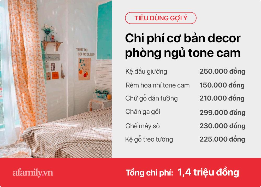 Tư vấn những sản phẩm đơn giản giúp gái độc thân tự trang trí phòng ngủ tone cam hoa nhí xinh như Hàn xẻng lại cho chi phí cực tiết kiệm  - Ảnh 9.
