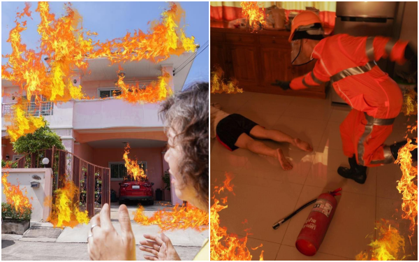 Dân mạng đổ xô xem vụ cháy nhà, nhưng sự thật té ra là một pha quảng cáo mì siêu cay khiến ai cũng tức nghẹn!