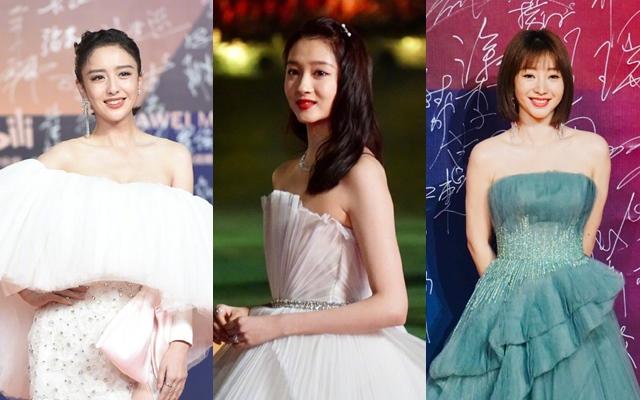 Thảm đỏ Kim Kê 2020: Quan Hiểu Đồng xinh như công chúa, Đồng Lệ Á bị chê tơi tả vì trang phục xấu