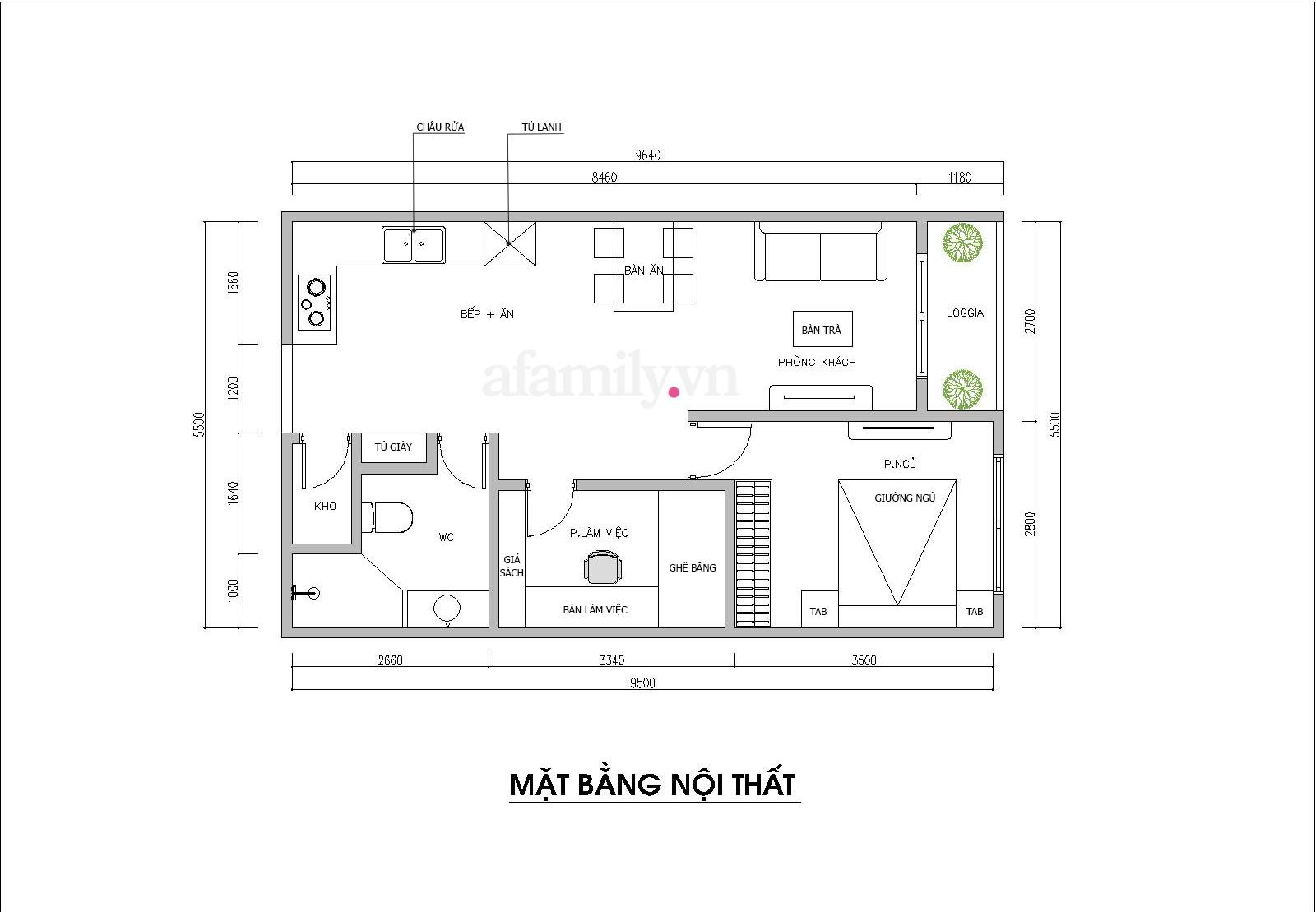 Kiến trúc sư tư vấn thiết kế căn hộ 50m² cho người trẻ độc thân với chi phí 134 triệu đồng - Ảnh 2.