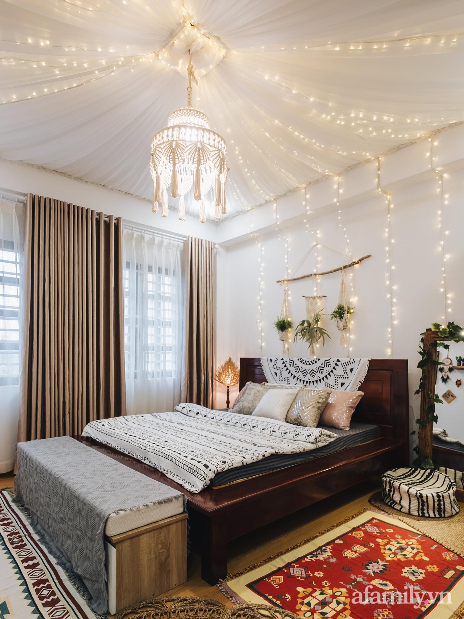 Cải tạo phòng ngủ cũ thành phòng tân hôn đẹp lãng mạn theo phong cách Boho với chi phí décor 50 triệu đồng ở Sài Gòn - Ảnh 5.