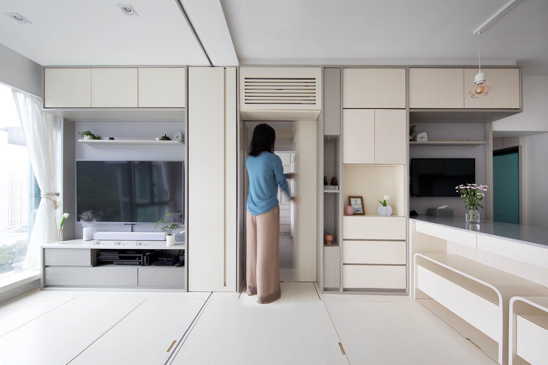 Căn hộ 45m² với mẹo bố trí hợp phong thủy giúp không gian thêm vượng khí, vợ chồng thêm thuận hòa  - Ảnh 2.