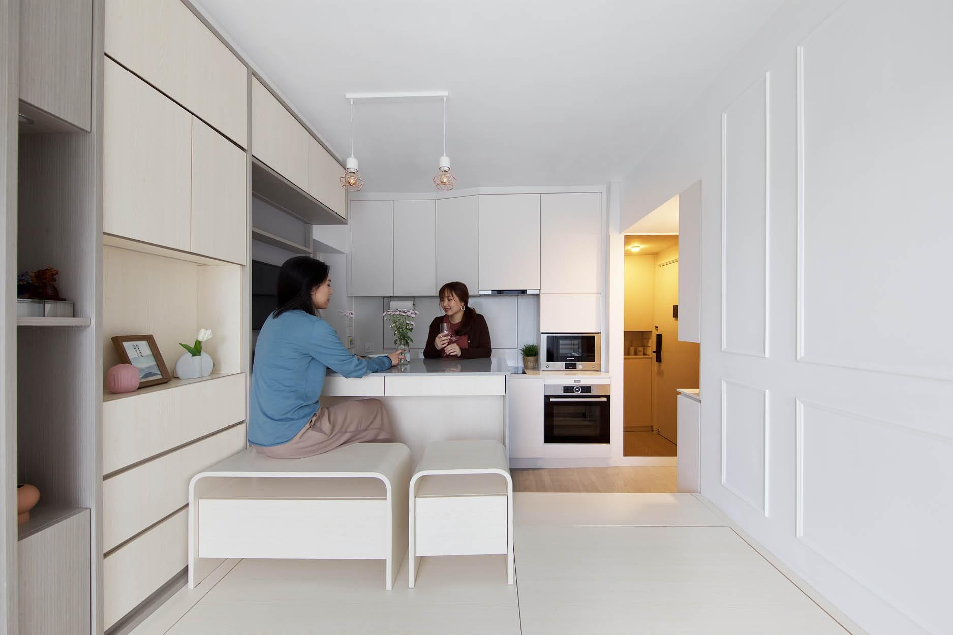Căn hộ 45m² với mẹo bố trí hợp phong thủy giúp không gian thêm vượng khí, vợ chồng thêm thuận hòa  - Ảnh 9.