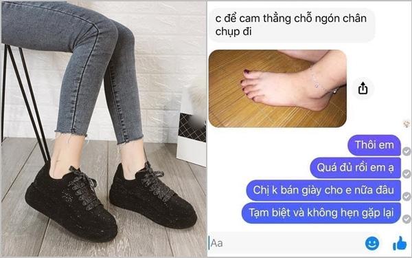 """Pha mua hàng """"đi vào lòng đất"""": Khách đo size giày bằng cách bắt chủ shop tự chụp 7749 tấm ảnh bàn chân và cái kết thật sự """"muốn nghẹn"""""""
