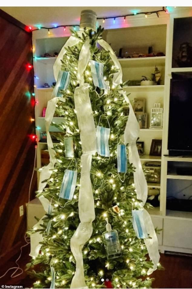 Treo khẩu trang, giấy vệ sinh lên cây thông Noel vì 'ám ảnh' với COVID-19 - Ảnh 8.