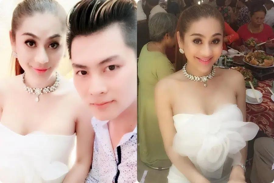 """Đi đám cưới tình cũ, Lâm Khánh Chi thay tới 2 bộ váy cắt khoét hiểm hóc, thêm đôi cao gót khủng nhưng xém chút thì """"vồ ếch"""" - Ảnh 7."""