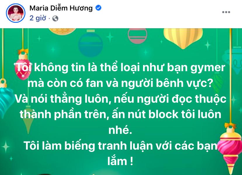 Hoa hậu Diễm Hương ngỡ ngàng khi gymer lăng mạ cố NS Chí Tài có fan bênh vực, liền hành động dứt khoát với những thành phần này  - Ảnh 2.