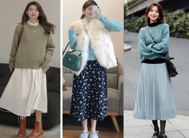 4 típ diện áo len và chân váy  - Ảnh 4.