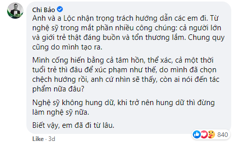 """Bức xúc trước việc nghệ sĩ tới """"xử lý"""" người livestream xúc phạm cố nghệ sĩ Chí Tài, Chi Bảo lên tiếng: """"Hung dữ thì đừng làm nghệ sĩ nữa"""" - Ảnh 3."""