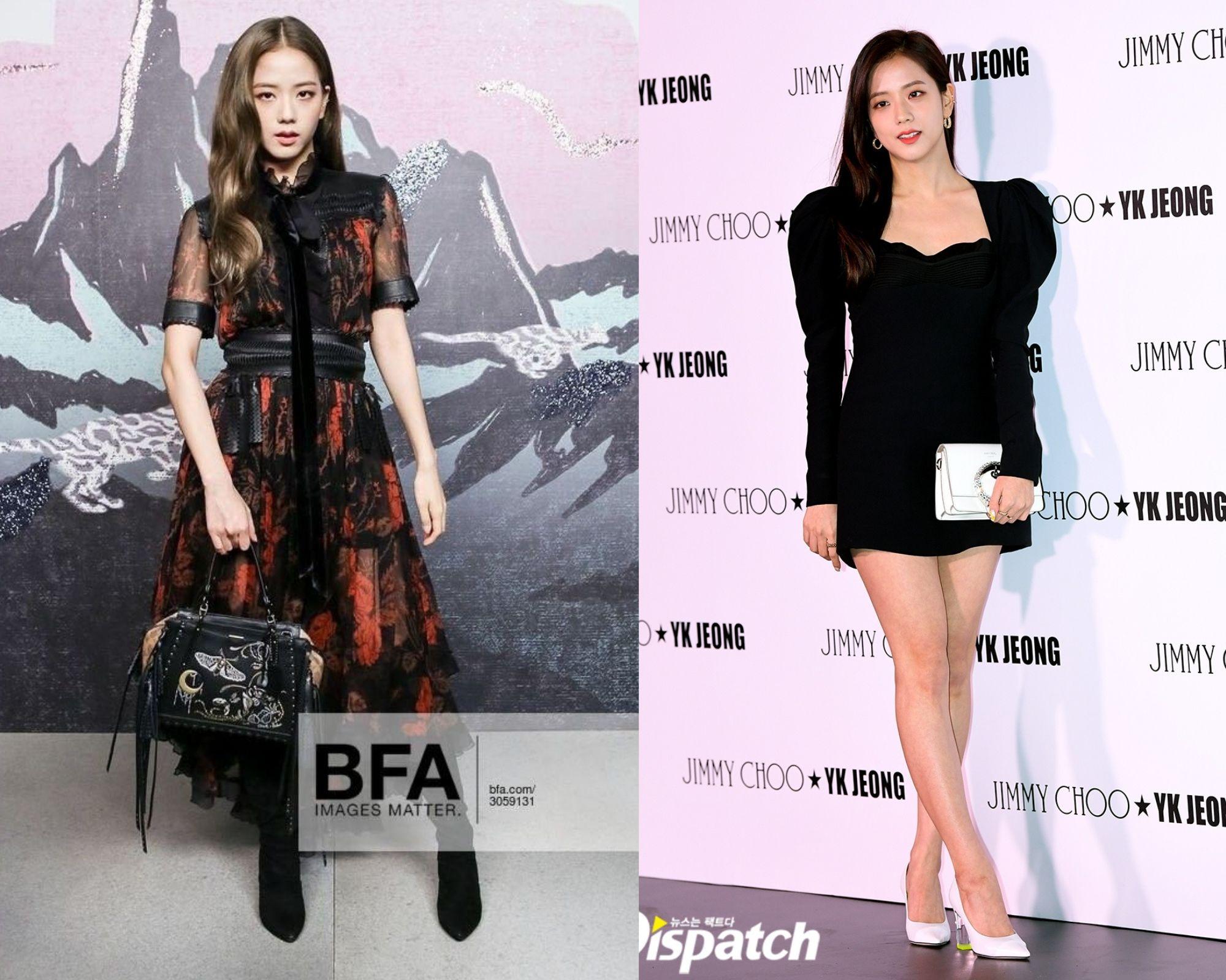 Jisoo rất hiếm khi mặc váy dài lượt thượt, nhìn ảnh so sánh vóc dáng cách biệt khi mặc váy ngắn - dài sẽ hiểu ngay lý do - Ảnh 3.