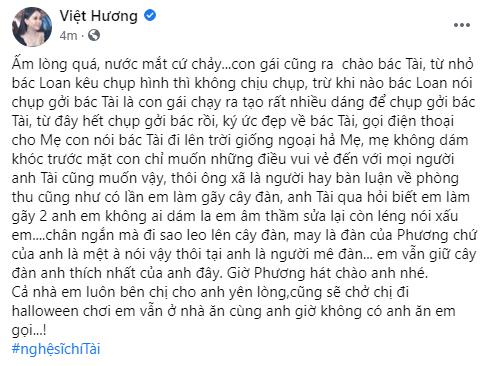 Nghệ sĩ Việt Hương kìm nén cảm xúc khi con gái hỏi về chuyện cố nghệ sĩ Chí Tài ra đi - Ảnh 2.