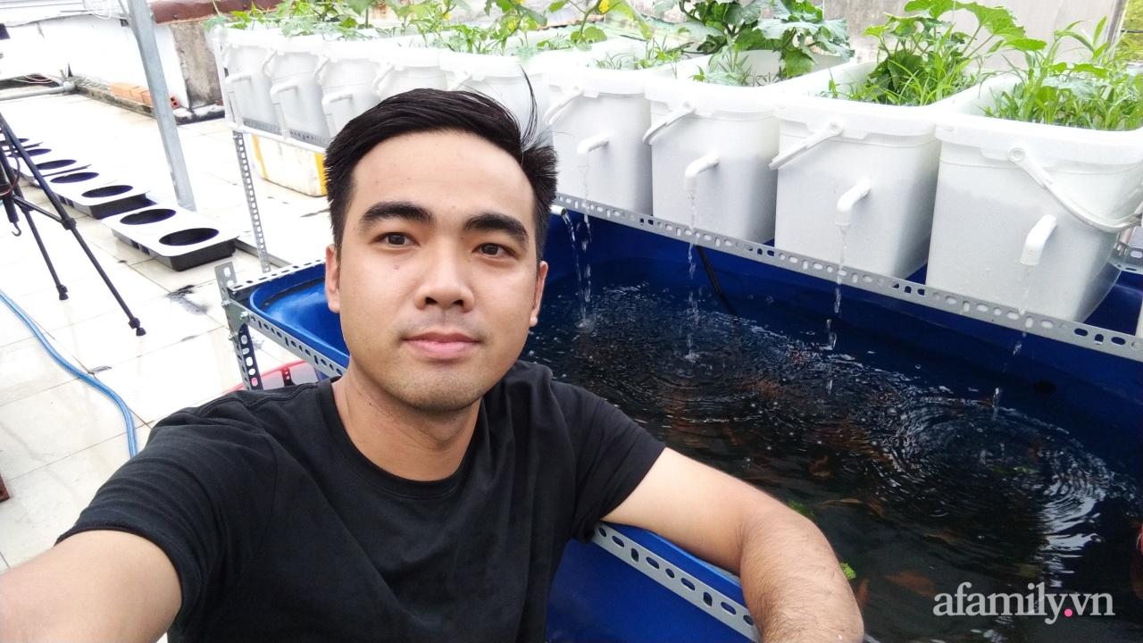 Sân thượng 100m² trồng rau nuôi cá với tổng chi phí đầu tư 80 triệu đồng ở quận 12 Sài Gòn - Ảnh 14.