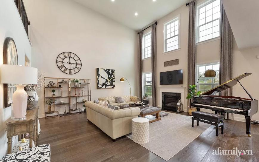 Căn nhà mơ ước với nội thất sang trọng cùng tầm nhìn hướng ra cánh đồng xanh tươi trong lành của mẹ Việt ở Mỹ - Ảnh 10.
