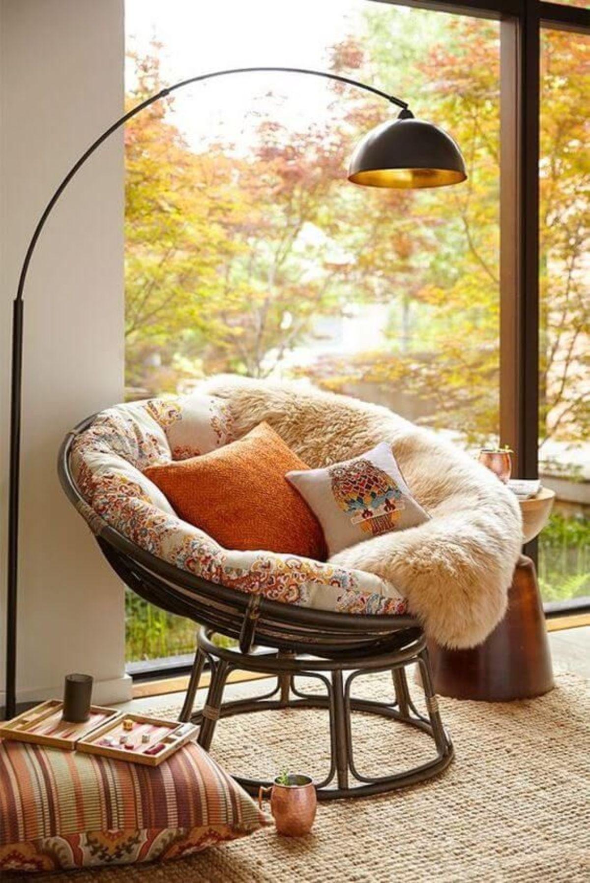 Tạo không gian thư giãn đẹp như tranh vẽ với ghế Papasan - Ảnh 1.
