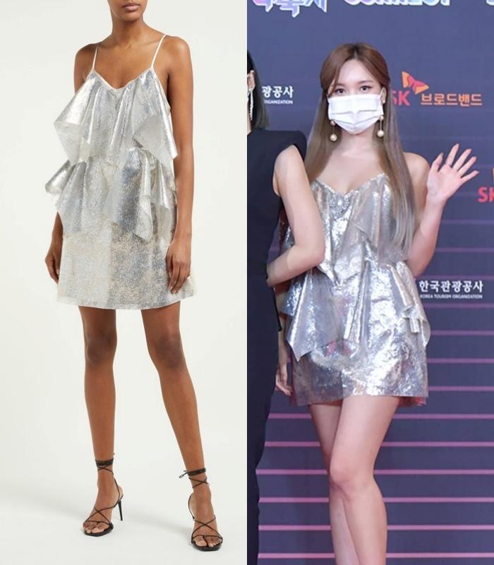 """Đỉnh cao """"phá đồ hiệu"""" nào bằng stylist của Twice: Cắt váy hiệu thành váy chợ, biến Tzuyu thành trò hề trên sân khấu - Ảnh 2."""