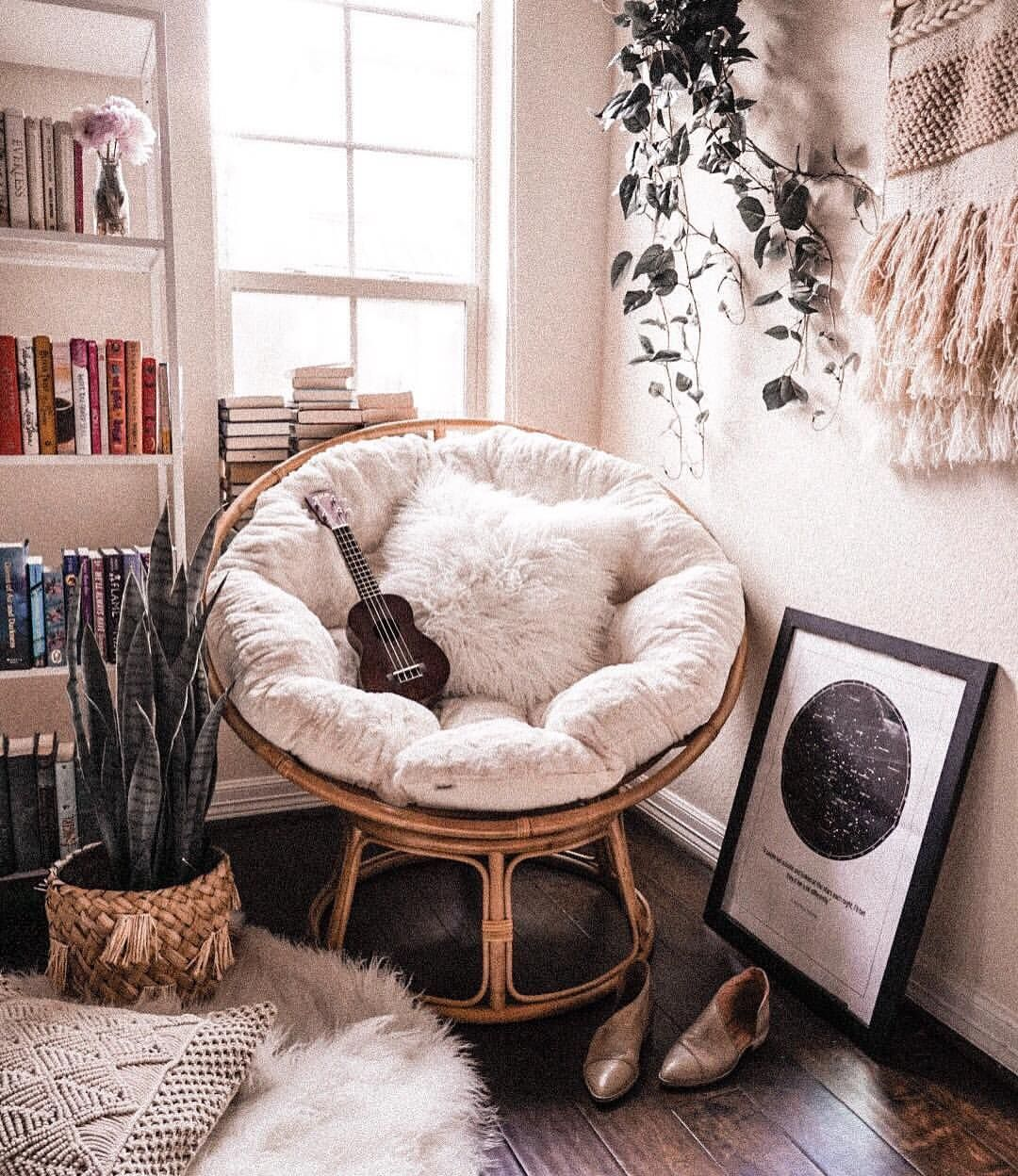 Tạo không gian thư giãn đẹp như tranh vẽ với ghế Papasan - Ảnh 2.
