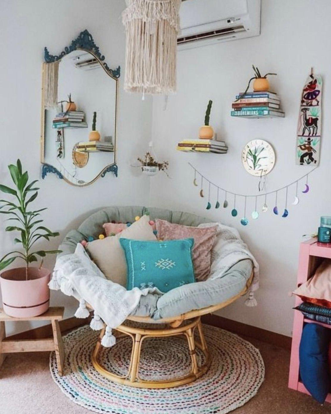 Tạo không gian thư giãn đẹp như tranh vẽ với ghế Papasan - Ảnh 5.