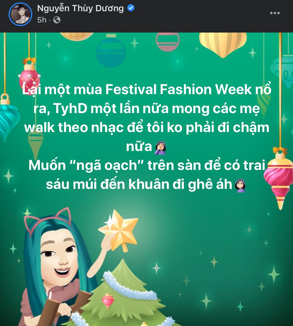 Thuỳ Dương bất ngờ bóng gió về sự cố tại Fashion Festival, netizen liền réo ngay tên trứng rán cần mỡ Thanh Tâm - Ảnh 2.