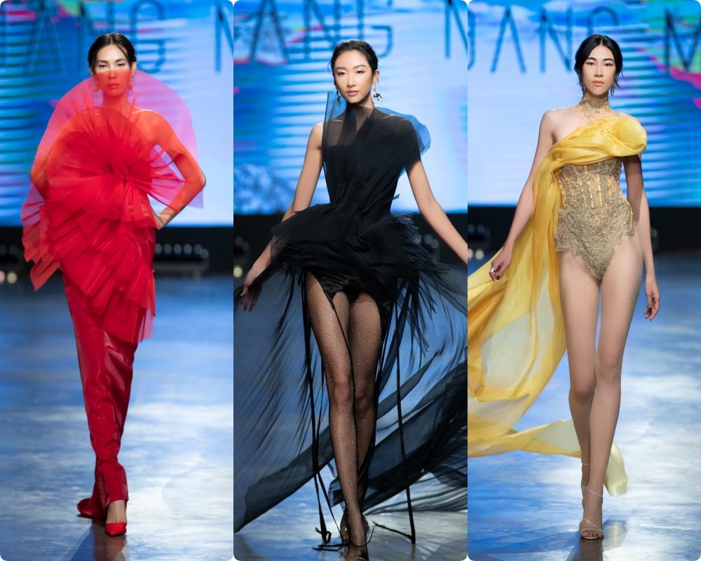 Phương Mai hóa thân thành vũ công múa cột, Võ Hoàng Yến nhảy múa tung tăng trên sàn rumway ngày cuối Fashion Festival - Ảnh 5.