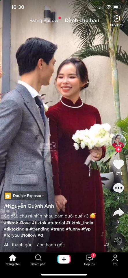 Vợ Công Phượng giản dị hết mức, lần cưới thứ 3 tại quê chồng vẫn chọn tóc búi đơn giản và áo dài đơn sắc  - Ảnh 3.