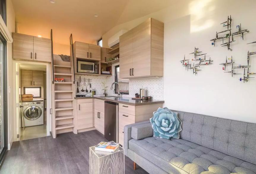 Những căn nhà siêu nhỏ vẫn đẹp hiện đại nhờ bố trí nội thất thông minh ai cũng muốn sở hữu - Ảnh 3.
