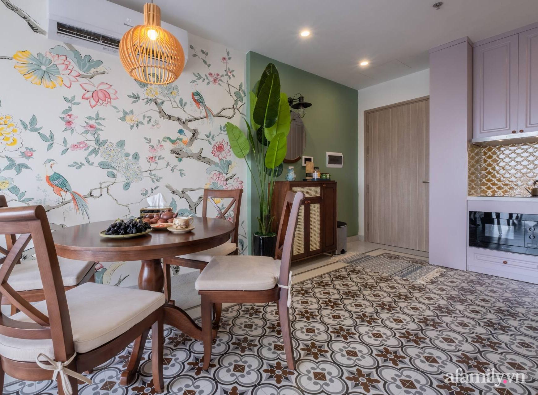 Căn hộ 3 phòng ngủ đẹp tinh tế với phong cách Indochine ở Vinhomes Ocean Park, Hà Nội - Ảnh 5.