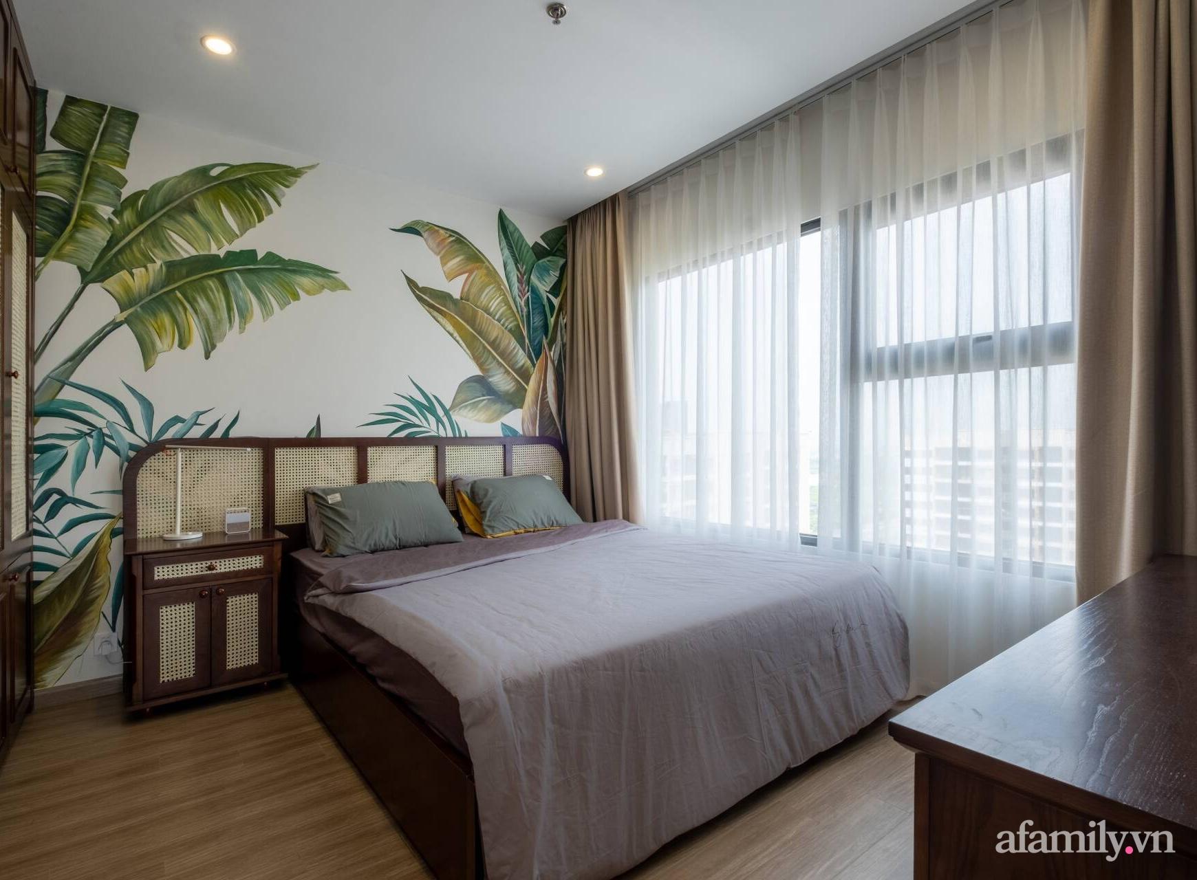 Căn hộ 3 phòng ngủ đẹp tinh tế với phong cách Indochine ở Vinhomes Ocean Park, Hà Nội - Ảnh 12.