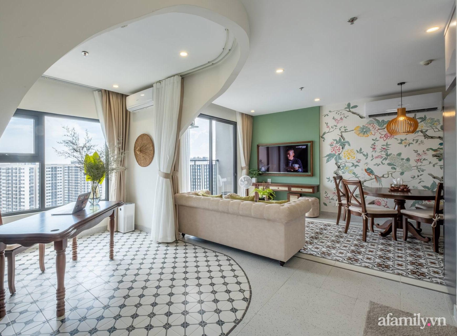 Căn hộ 3 phòng ngủ đẹp tinh tế với phong cách Indochine ở Vinhomes Ocean Park, Hà Nội - Ảnh 6.