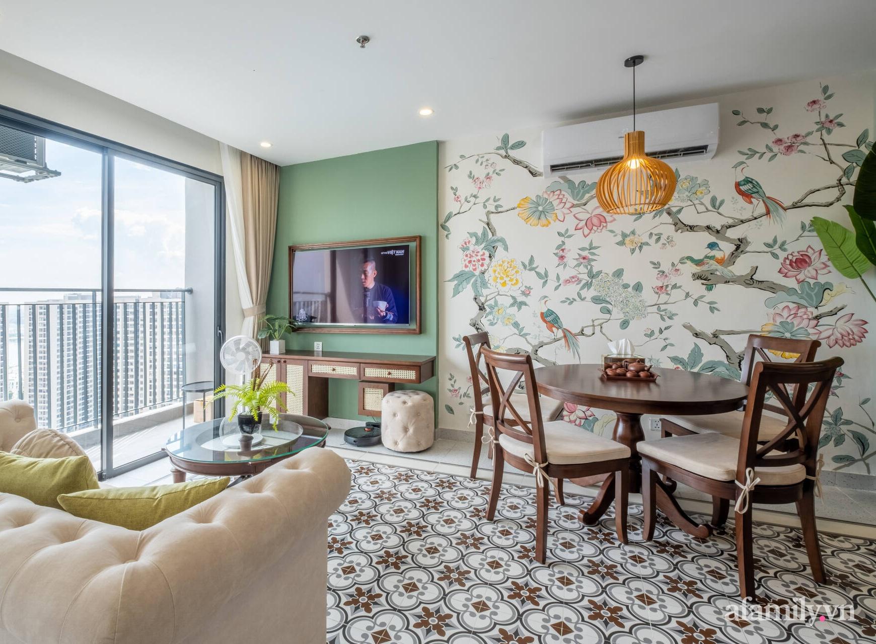 Căn hộ 3 phòng ngủ đẹp tinh tế với phong cách Indochine ở Vinhomes Ocean Park, Hà Nội - Ảnh 4.
