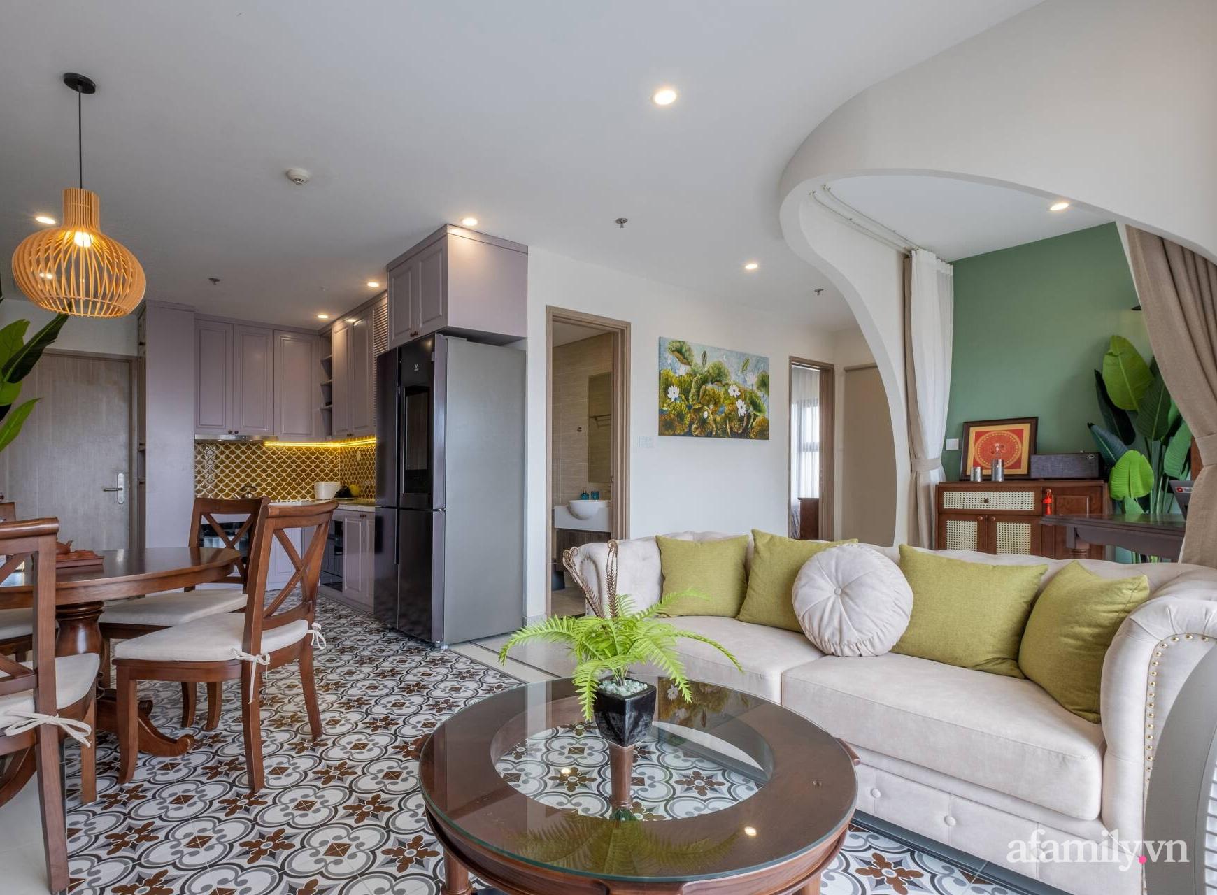 Căn hộ 3 phòng ngủ đẹp tinh tế với phong cách Indochine ở Vinhomes Ocean Park, Hà Nội - Ảnh 3.