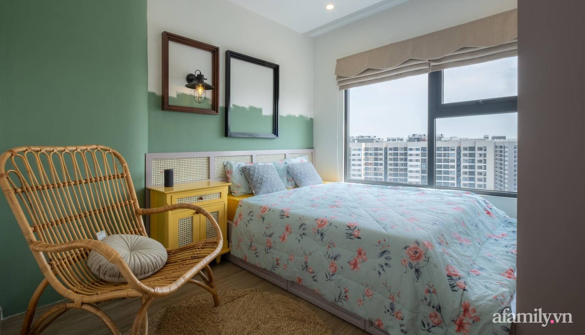 Căn hộ 3 phòng ngủ đẹp tinh tế với phong cách Indochine ở Vinhomes Ocean Park, Hà Nội - Ảnh 10.