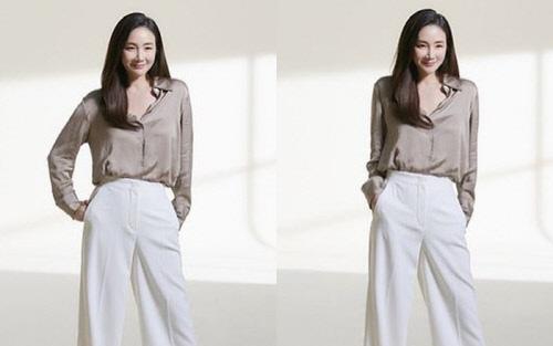 Choi Ji Woo lộ vóc dáng thật sau hơn 6 tháng sinh con qua hình chưa chỉnh sửa, liệu U50 có còn hoàn hảo?