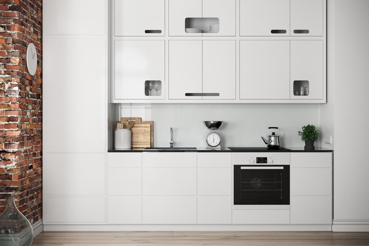 23 mẫu phòng bếp tối giản với tone màu trắng chủ đạo sẽ khiến bạn không thể không yêu - Ảnh 1.