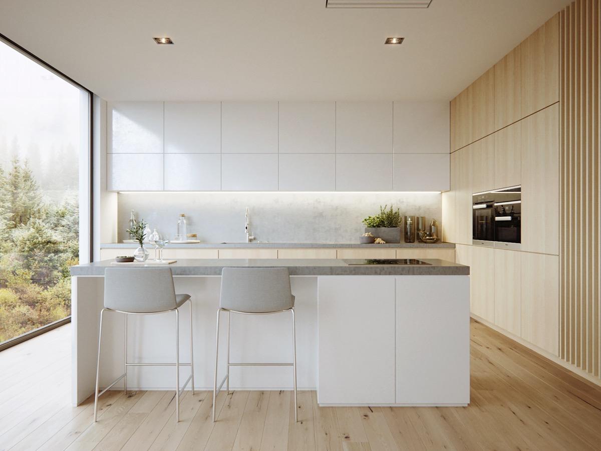 23 mẫu phòng bếp tối giản với tone màu trắng chủ đạo sẽ khiến bạn không thể không yêu - Ảnh 8.