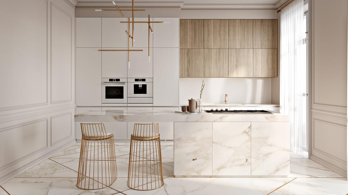 23 mẫu phòng bếp tối giản với tone màu trắng chủ đạo sẽ khiến bạn không thể không yêu - Ảnh 10.