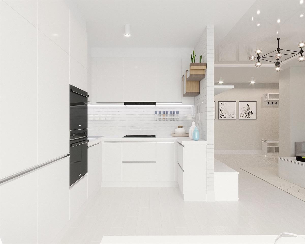 23 mẫu phòng bếp tối giản với tone màu trắng chủ đạo sẽ khiến bạn không thể không yêu - Ảnh 11.