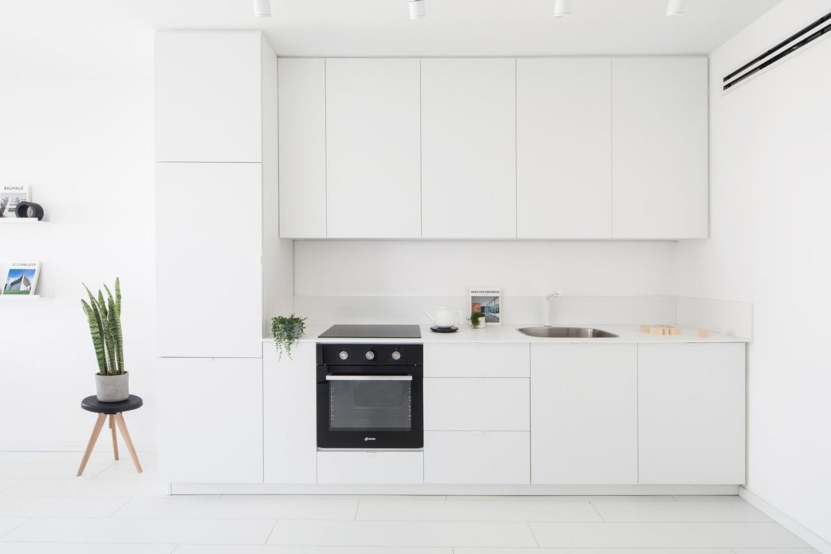 23 mẫu phòng bếp tối giản với tone màu trắng chủ đạo sẽ khiến bạn không thể không yêu - Ảnh 12.