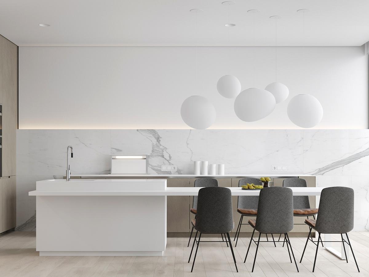 23 mẫu phòng bếp tối giản với tone màu trắng chủ đạo sẽ khiến bạn không thể không yêu - Ảnh 13.
