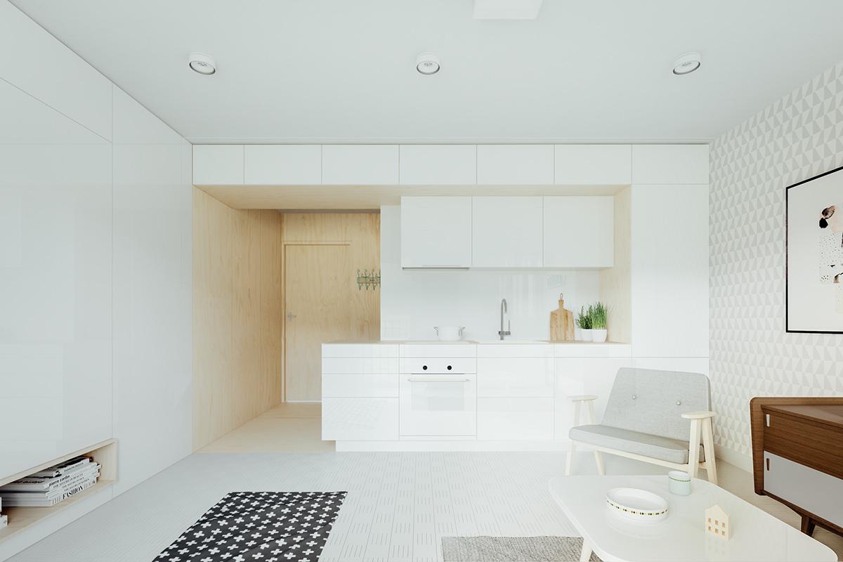 23 mẫu phòng bếp tối giản với tone màu trắng chủ đạo sẽ khiến bạn không thể không yêu - Ảnh 2.