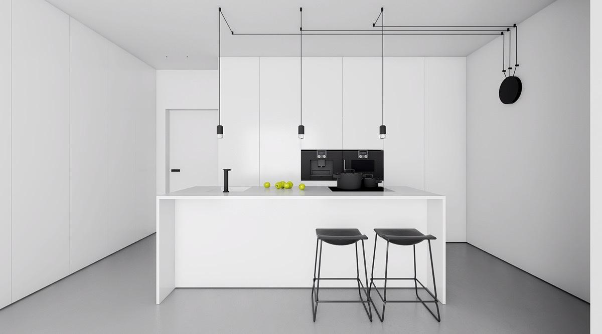23 mẫu phòng bếp tối giản với tone màu trắng chủ đạo sẽ khiến bạn không thể không yêu - Ảnh 14.