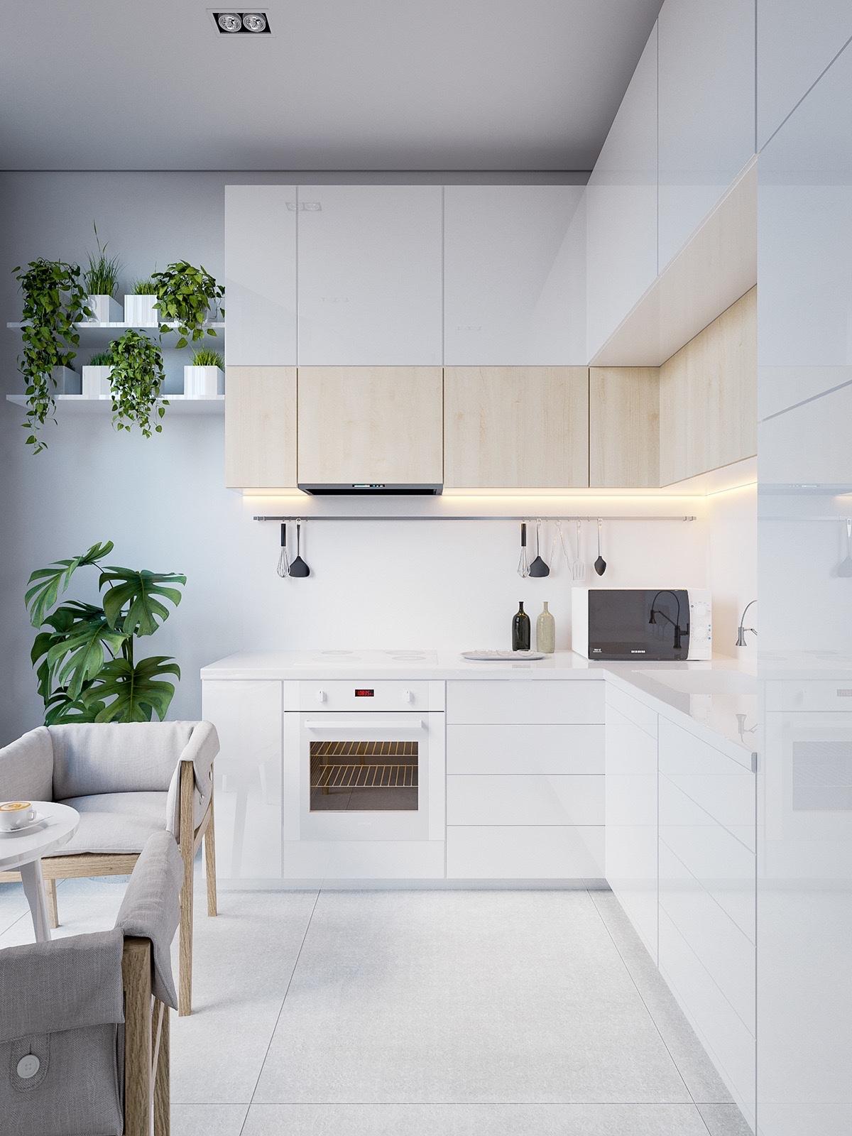 23 mẫu phòng bếp tối giản với tone màu trắng chủ đạo sẽ khiến bạn không thể không yêu - Ảnh 16.