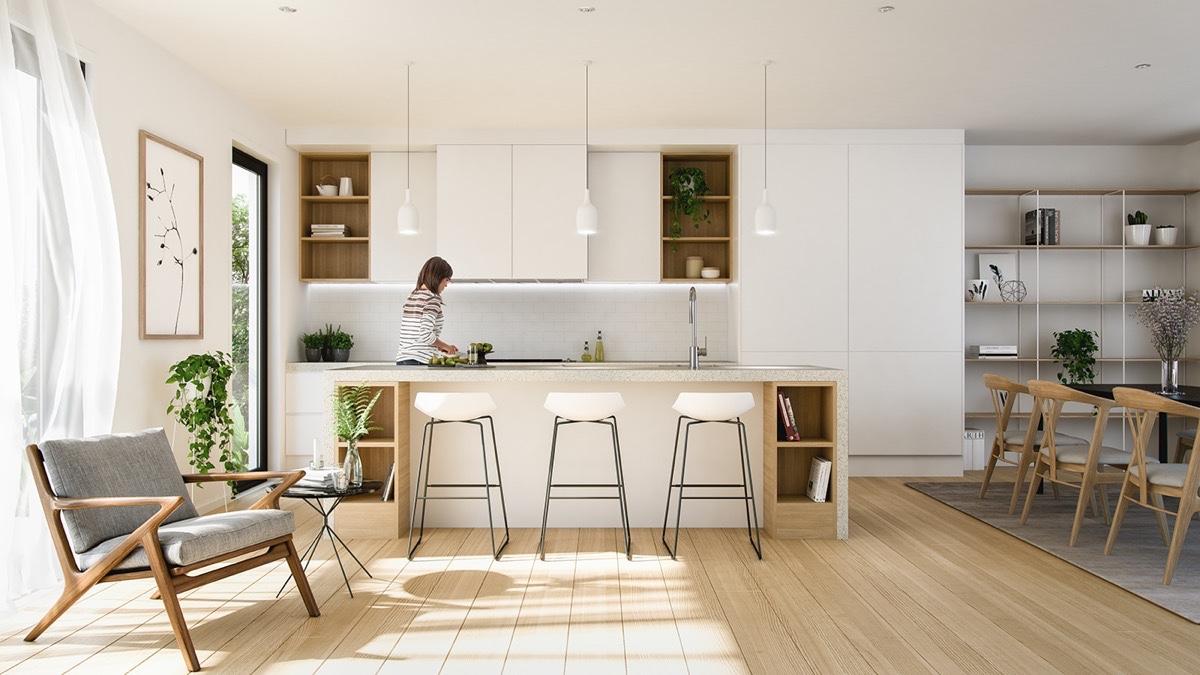 23 mẫu phòng bếp tối giản với tone màu trắng chủ đạo sẽ khiến bạn không thể không yêu - Ảnh 17.