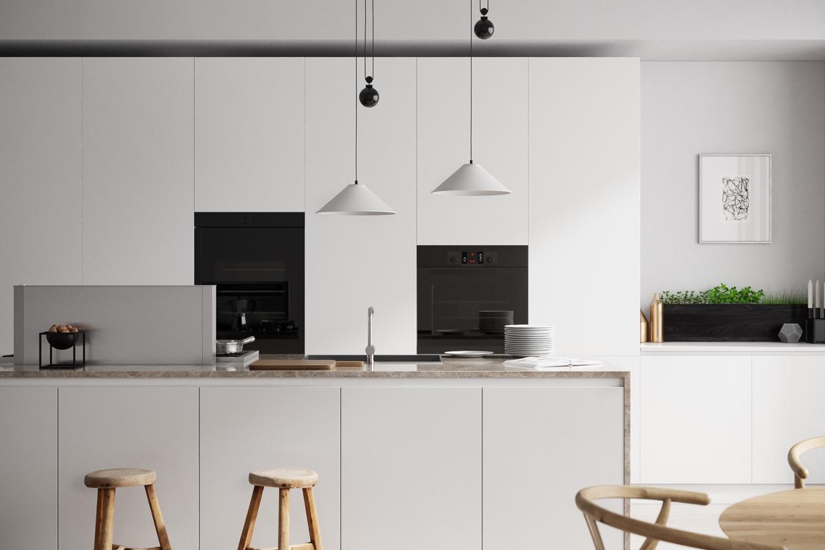 23 mẫu phòng bếp tối giản với tone màu trắng chủ đạo sẽ khiến bạn không thể không yêu - Ảnh 3.