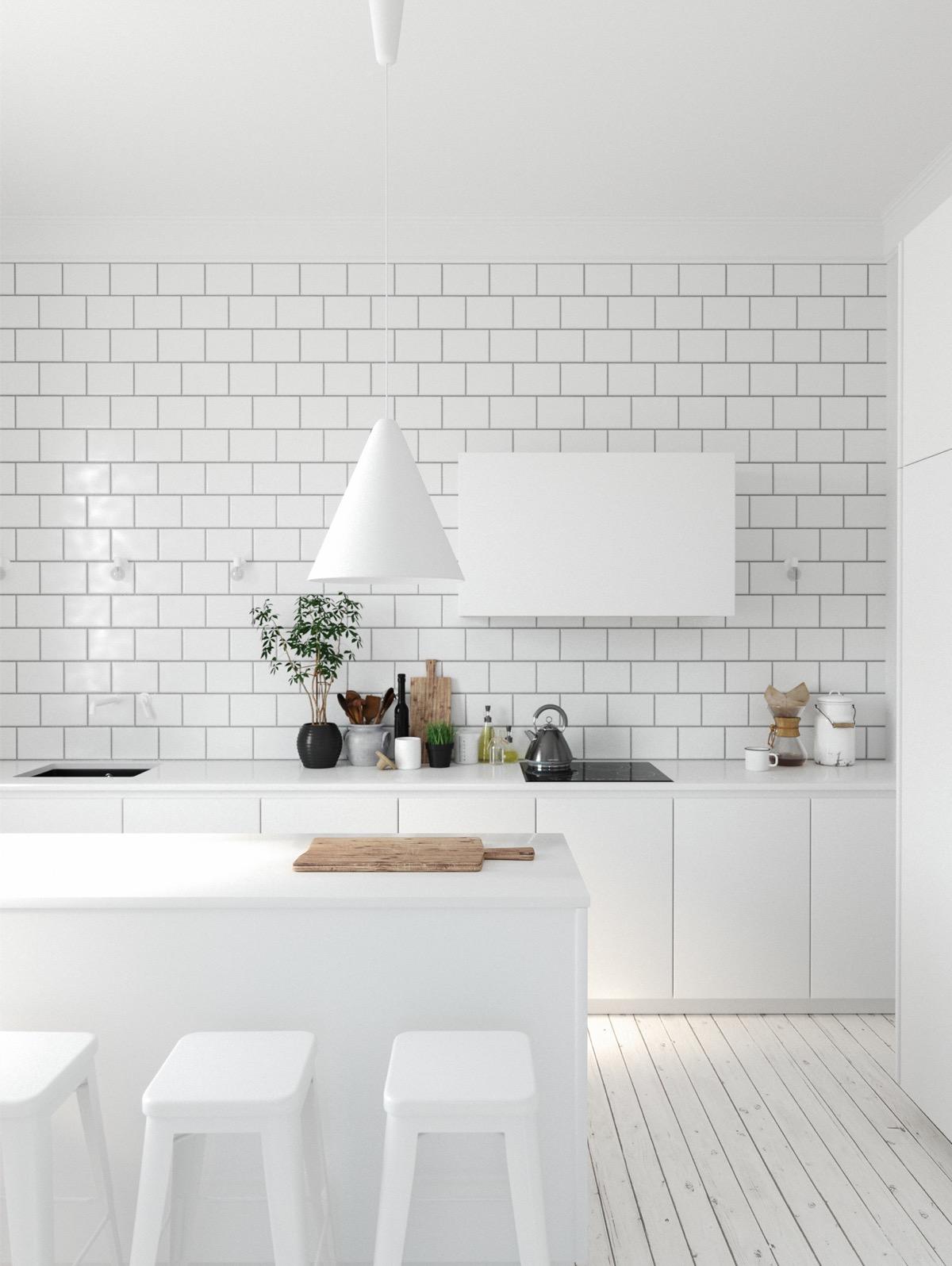 23 mẫu phòng bếp tối giản với tone màu trắng chủ đạo sẽ khiến bạn không thể không yêu - Ảnh 5.