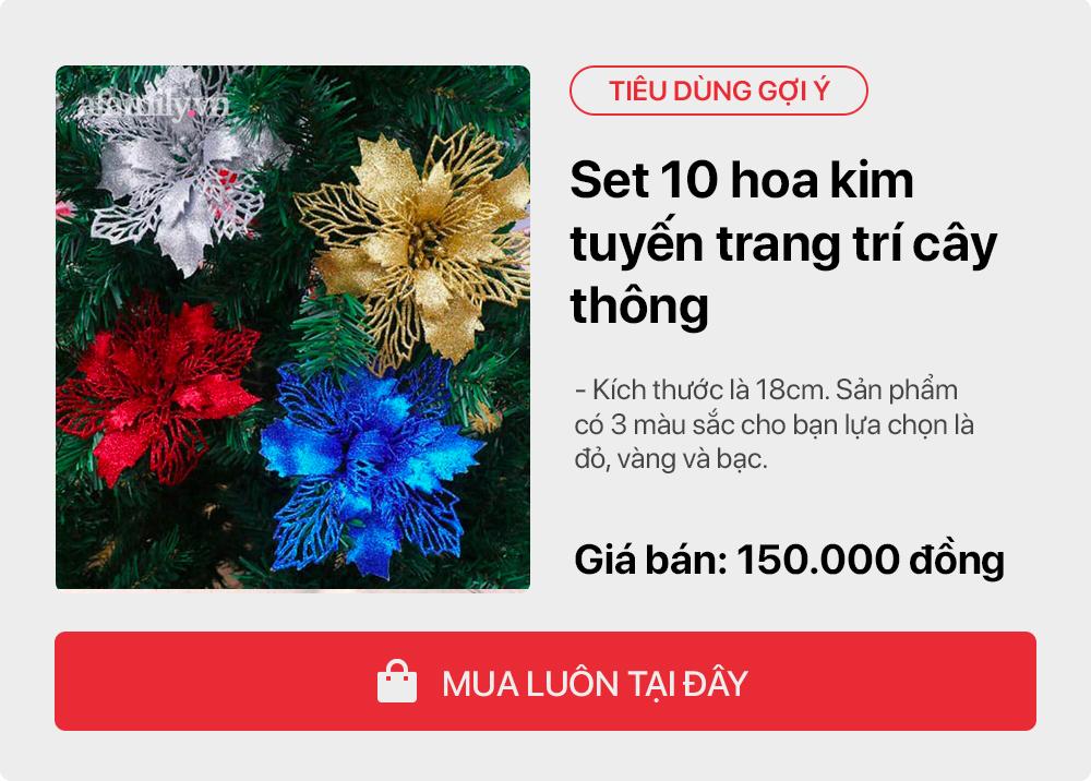 Giáng sinh tới gần: Tư vấn các sản phẩm trang trí cho cây thông đặt phòng khách tiết kiệm nhất, chi phí chỉ gần 450 nghìn đồng - Ảnh 7.