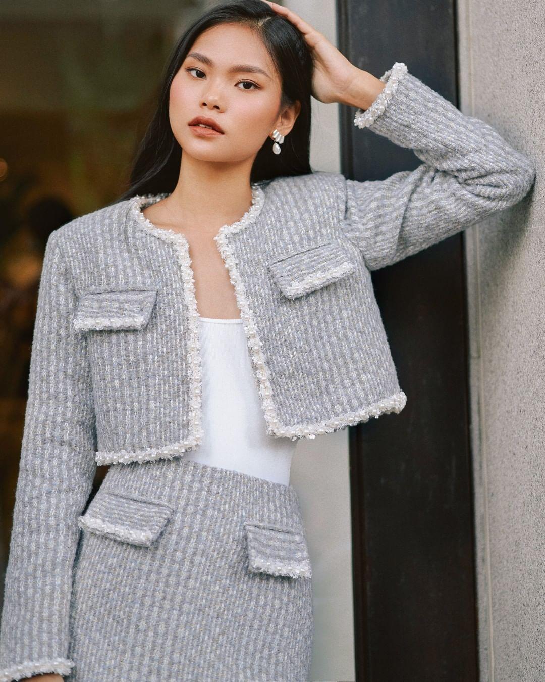 """Song Hye Kyo, Lan Khuê, Thanh Hằng """"đại chiến"""" với áo khoác vải tweed: Hot item đáng sắm nhất lúc này đây rồi - Ảnh 15."""