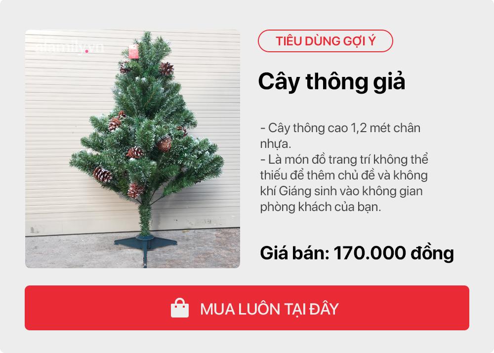 Giáng sinh tới gần: Tư vấn các sản phẩm trang trí cho cây thông đặt phòng khách tiết kiệm nhất, chi phí chỉ gần 450 nghìn đồng - Ảnh 3.